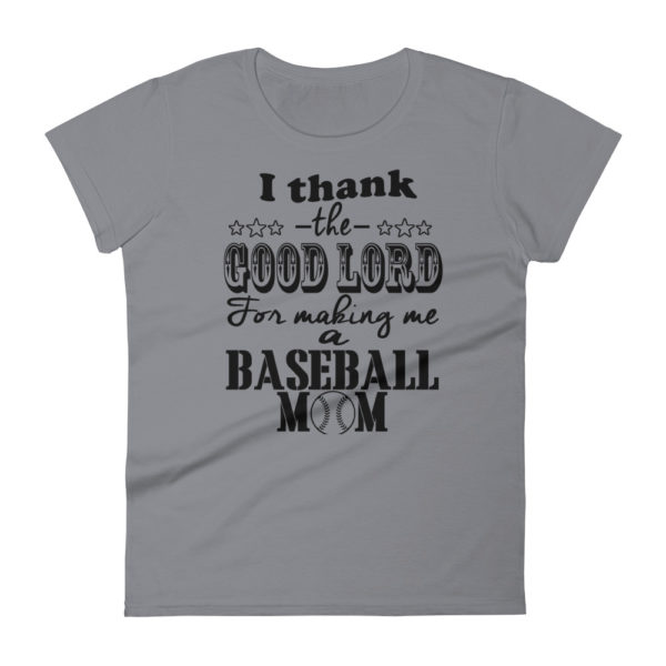 Baseball Mom Premium Woman's Fashion Fit T-shirt