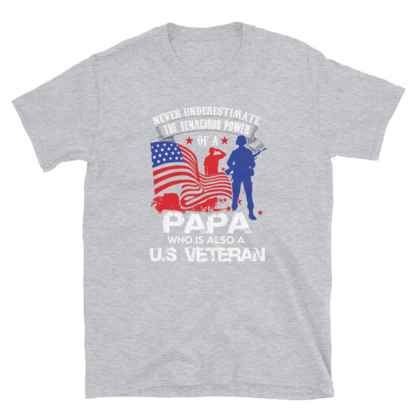 Veteran PAPA Men's Soft T-Shirt