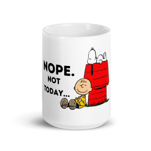 Snoopy Nope Not Today Glossy Birthday Gift Mug