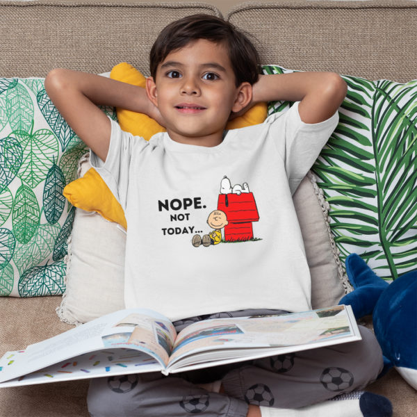 Snoopy Nope Not Today Kid's Premium T-Shirt